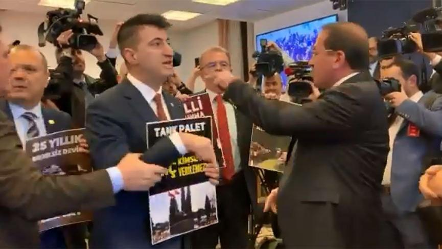 Bütçe Komisyonunda 'Tank Palet' eylemi