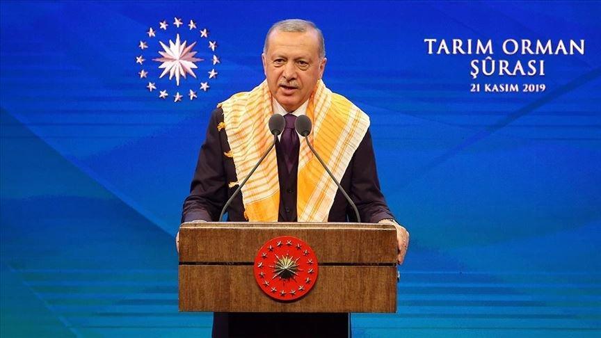 Erdoğan'dan tarım kredisi açıklaması