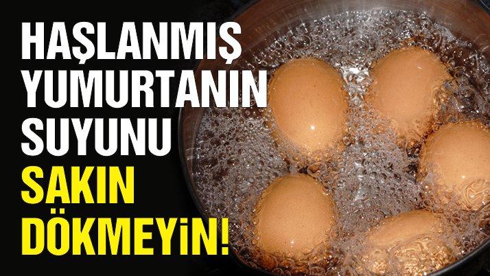Haşlanmış yumurta suyunun bilinmeyen faydaları