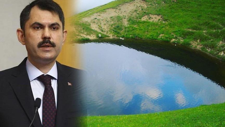 Bakan Murat Kurum'dan Dipsiz Göl eski haline dönecek müjdesi