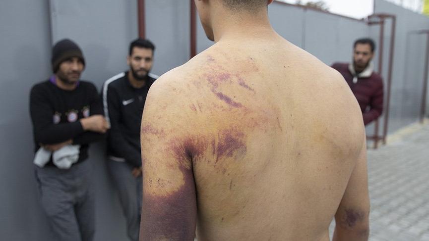 Yunan askerlerden kaçak göçmenlere işkence