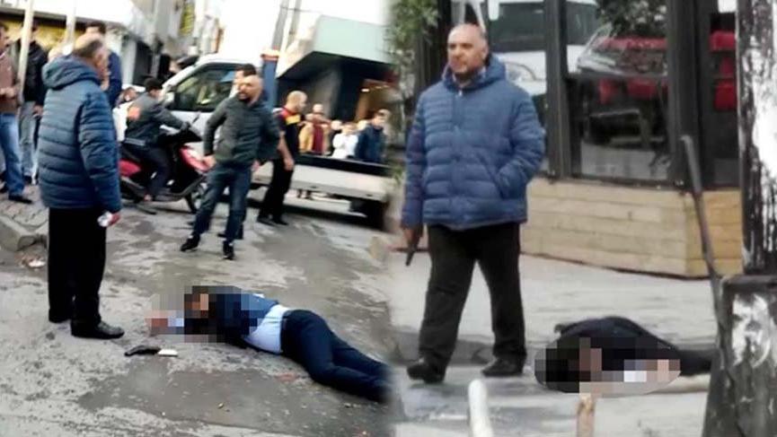 Cadde ortasında dehşet! Öldürüp başında bekledi