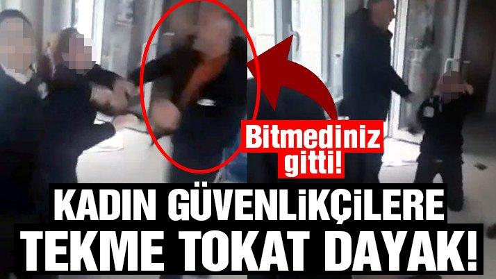 Güvenlik müdürü, kapıyı açmayan iki kadın görevliyi dövdü!