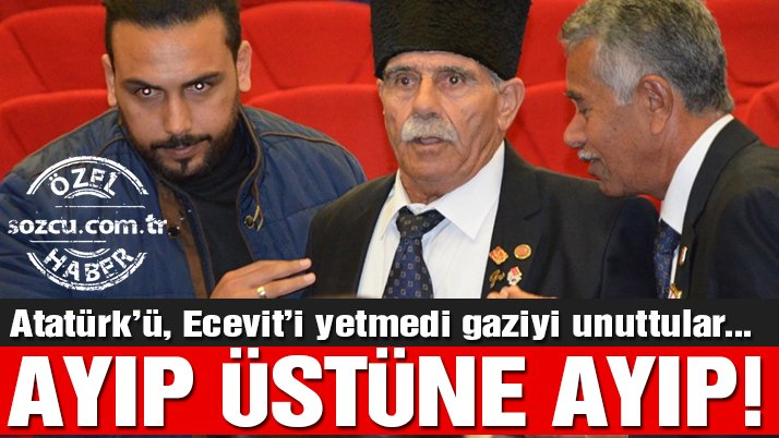 Kıbrıs töreninde Atatürk'ü de 'unuttular' Ecevit'i de!