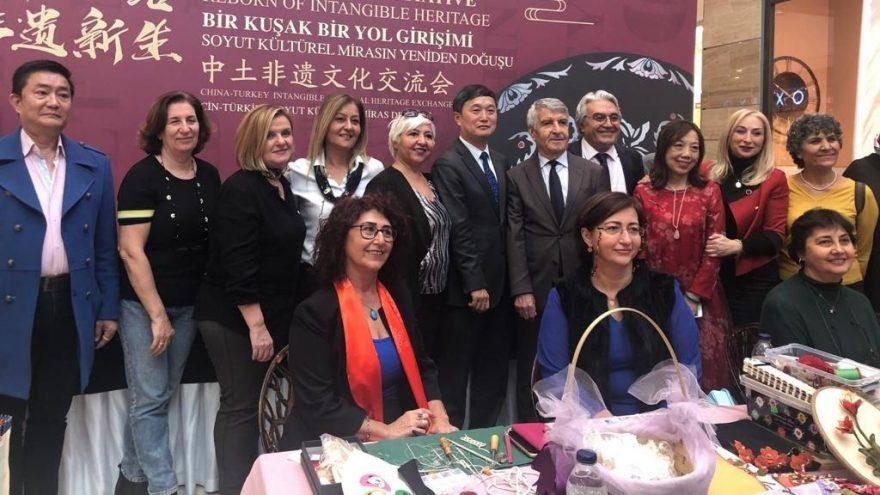Çin ve Türk kadınları geleneksel el sanatlarını sergilediler