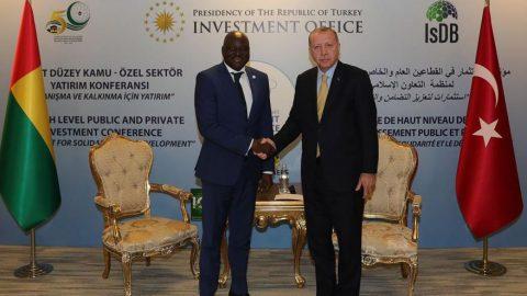 Erdoğan, Gine Cumhurbaşkanı Conde ve Gine-Bissau Başbakanı Gomes ile görüştü
