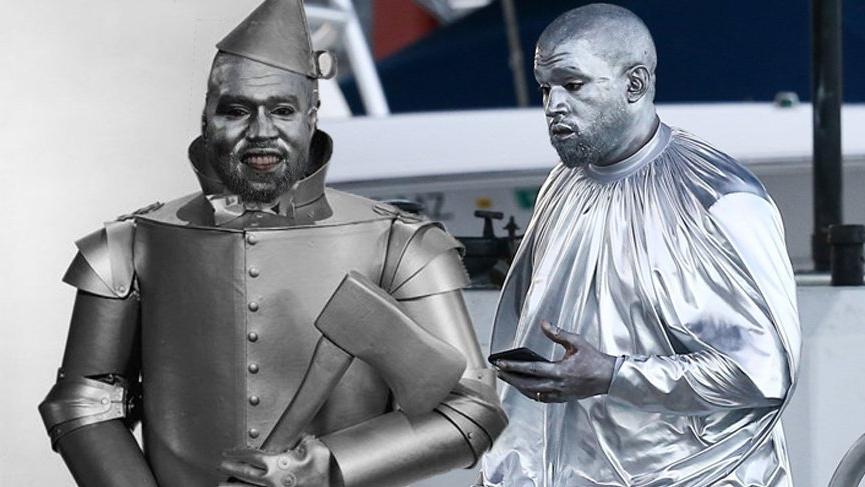 Kanye West Mary operası için kendini gümüş rengine boyadı alay konusu oldu