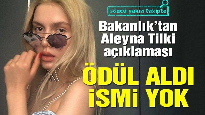 Gençlik ve Spor Bakanlığı'ndan Aleyna Tilki sansürü