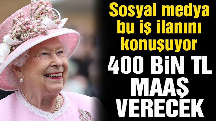 Kraliçe Elizabeth sosyal medya danışmanı arıyor! 400 bin lira maaş verecek
