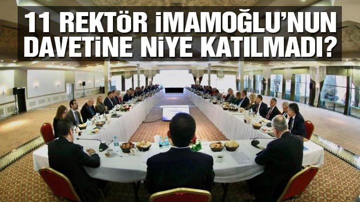 Devlet üniversitelerinin rektörleri İmamoğlu'nun davetine niye katılmadı?