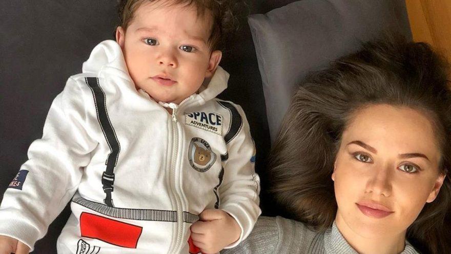 Burak Özçivit-Fahriye Evcen çiftinin bebekleri Karan ilk kez görüntülendi