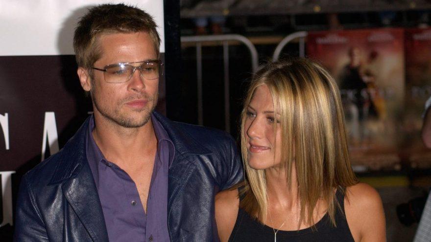 Brad Pitt ile Jennifer Aniston aynı partide
