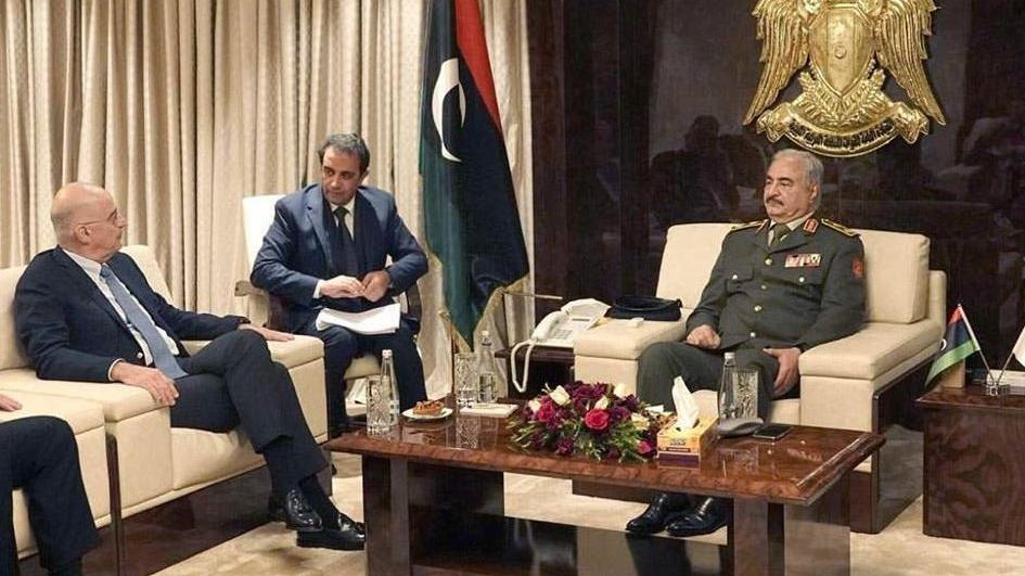 Kriz büyüyor: Yunan bakan Libya'nın sözde lideriyle buluştu!
