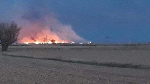 Torf alanlarında şüpheli yangın