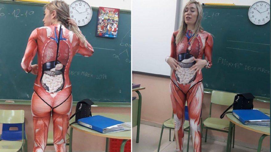 Genç öğretmen sınıfa böyle girdi: Öğrencileri şaşkına çevirdi