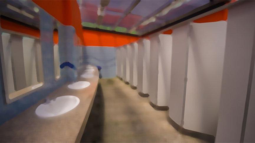 AVM'nin kadınlar tuvaletinde iğrenç olay!