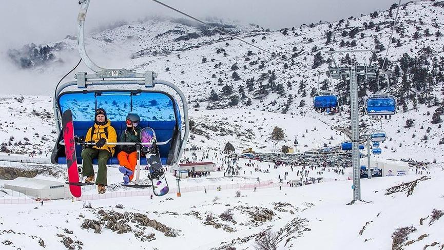Denizli Kayak Merkezi'nde sezon açıldı