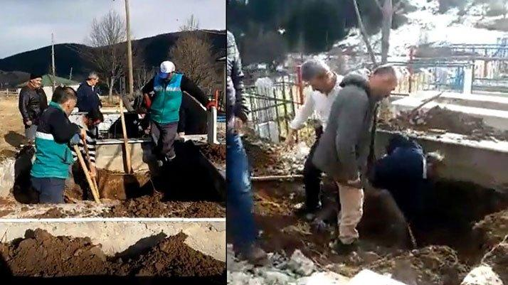 Eski muhtar oy vermeyenlerin yakınlarının mezarlarını taşıttırdı