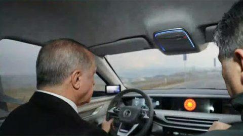 Cumhurbaşkanı yerli otomobili kullandı