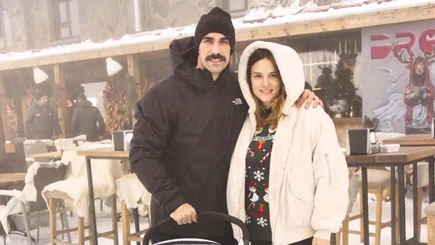İbrahim Çelikkol ailesiyle birlikte kış tatilinde