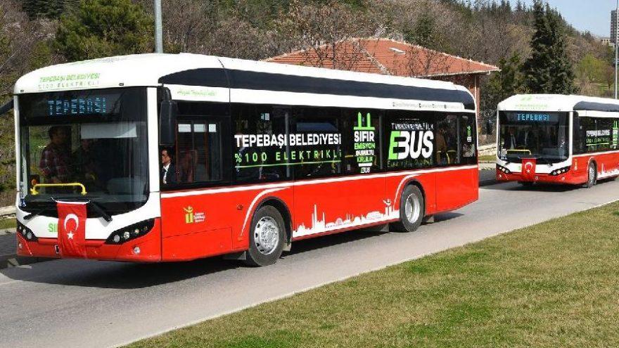 Elektrikli otobüsle 370 bin liralık tasarruf