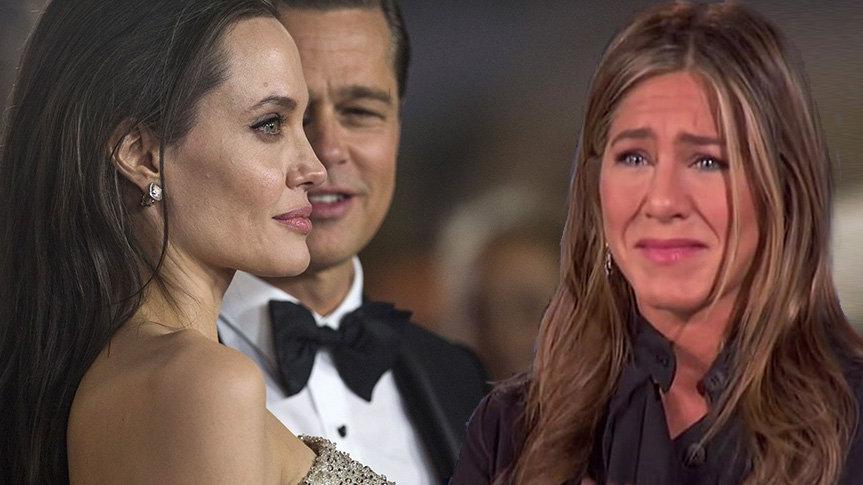 Jennifer Aniston Angelina Jolie'nin hamile olduğunu öğrenince ağlama krizine girmiş