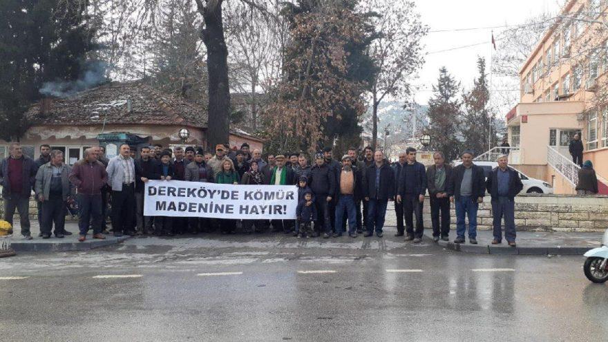 Köylüler maden ocağına karşı eylemde