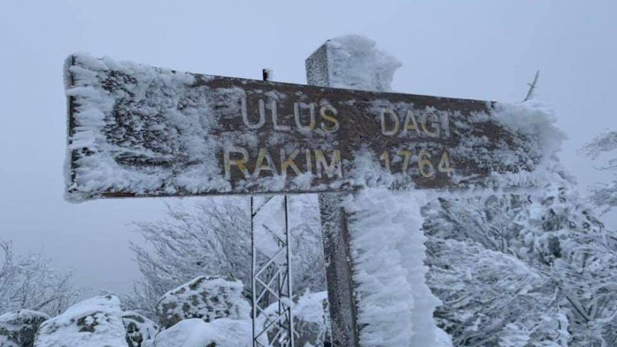 Kar yağmadı, vatandaşlar Ulus Dağı'na akın etti
