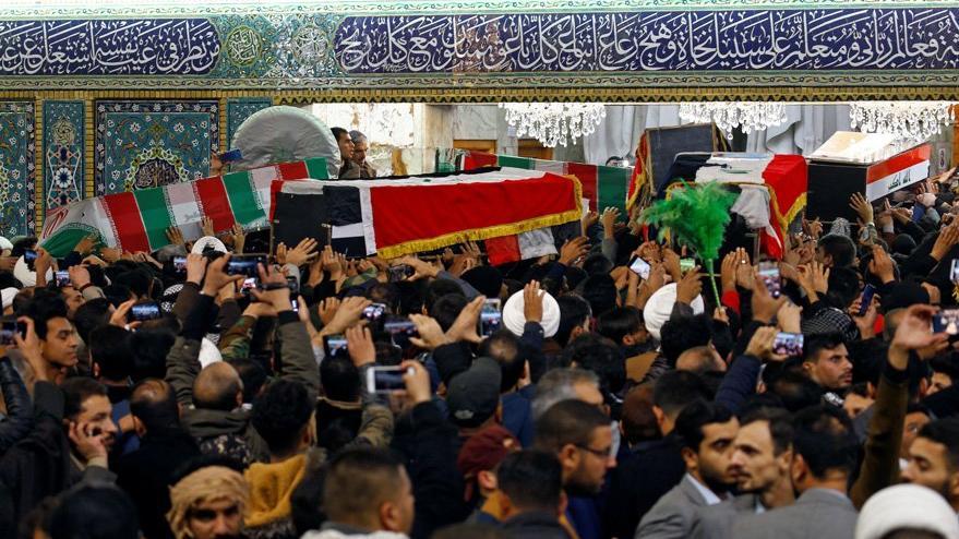 Son dakika... Bütün ülkede yas ve öfke: Süleymani'nin naaşı İran'da