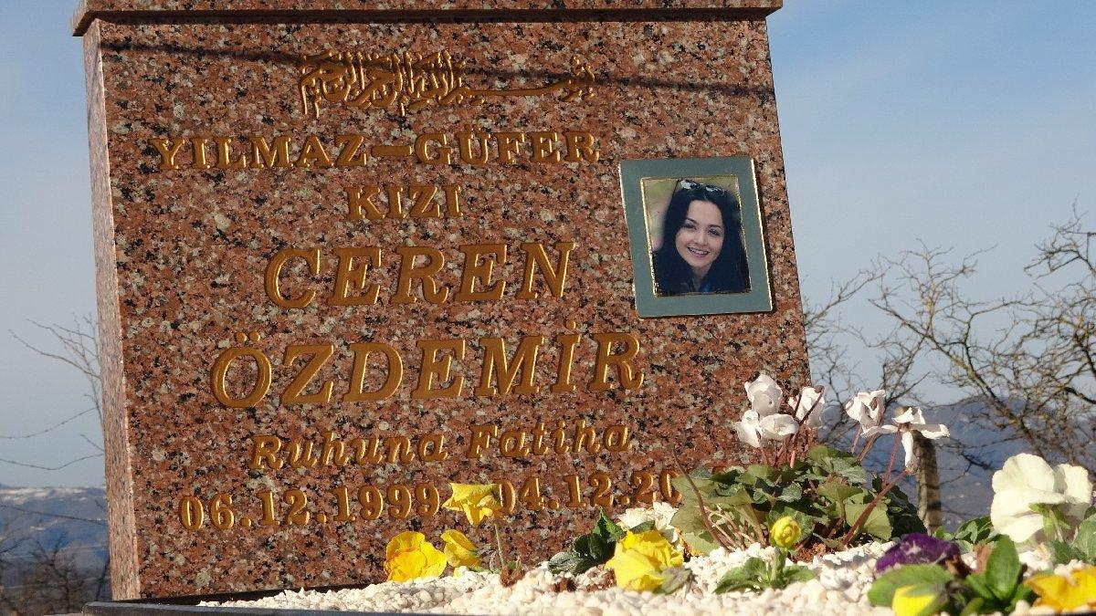 Ceren Özdemir mezarına paylaştığı mesajı yazdırdılar