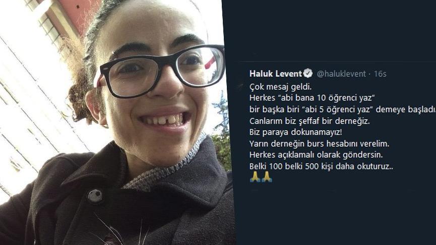 Haluk Levent'in burs kararı örnek oldu