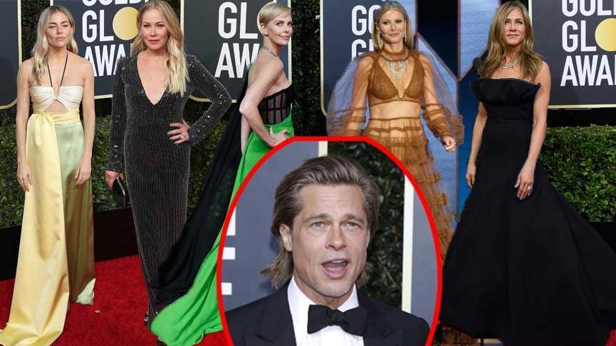 77. Golden Globe törenine Brad Pitt ve eski sevgilileri damga vurdu