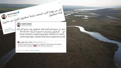 Kanal İstanbul için Arapça tweet atışması