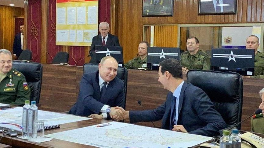 Putin ile Esad Şam'da bir araya geldi!