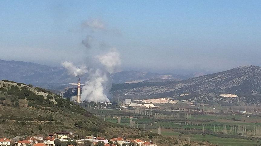 Termik santralin çıkardığı zehir böyle fotoğraflandı