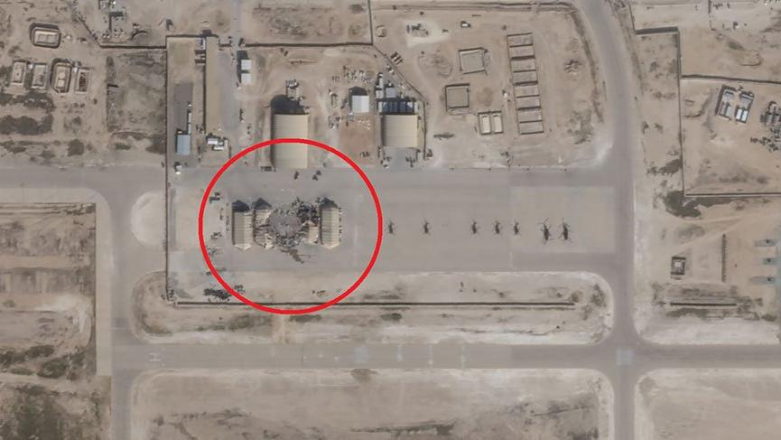İran'ın ABD üssüne saldırısından yeni görüntüler!