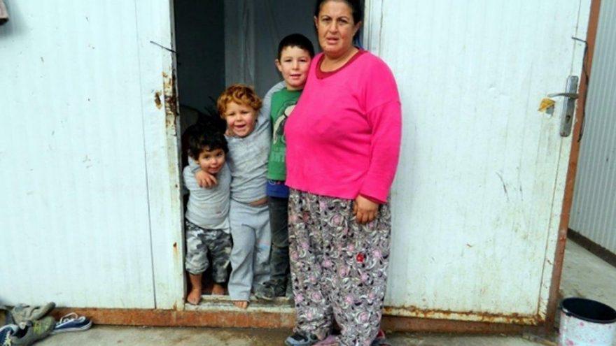 Üç çocuğuyla konteynerde kalıyordu…