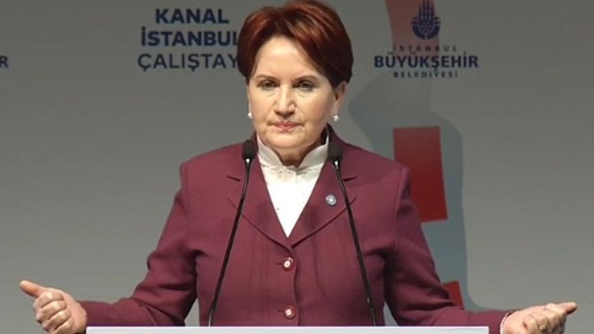 Kılıçdaroğlu'ndan önce kürsüye gelen Akşener: 'İmamoğlu'nu iki kere seçerek beyefendinin sinirlerini bozdunuz'