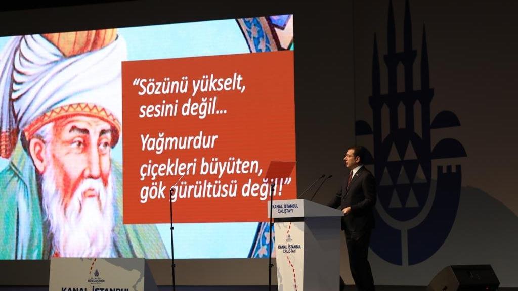 Programın açılış konuşmasını yapan İmamoğlu'ndan Erdoğan'a 'Mevlanalı' çağrı