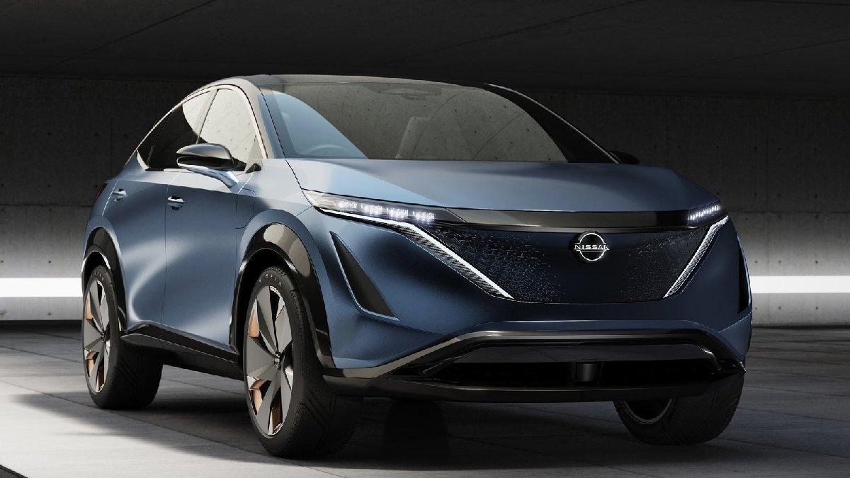 Nissan'ın tam elektrikli konsept SUV modeli : Ariya!