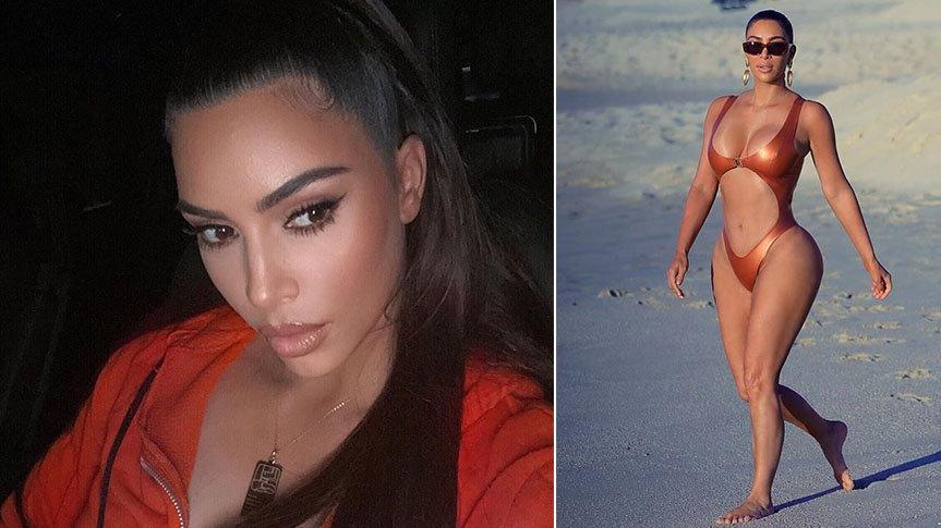 Kim Kardashian buzdolabını göstermeye doyamıyor
