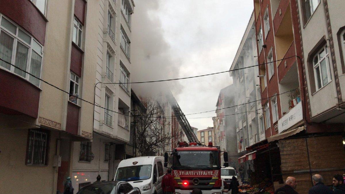 Esenyurt'ta yangın, mahsur kalanlar kurtarıldı