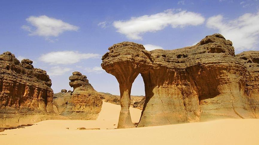 Sahra Çölü'nün büyüleyici Ahaggar Dağları
