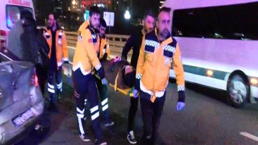 Son dakika... TEM Seyrantepe'de zincirleme kaza! Yaralılar var