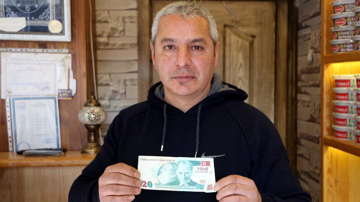 Üzerinde 20 lira yazıyor ama o 2 bin 500 katını istiyor
