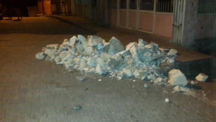 Elazığ depremi sonrası Adıyaman'da cami minaresinde yıkılma!