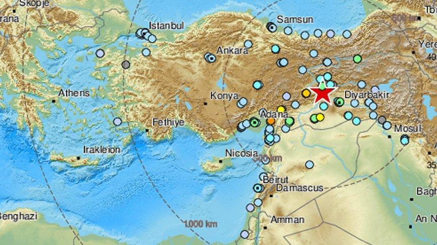 Elazığ'daki 6,8 büyüklüğündeki deprem birçok ülkede de hissedildi!