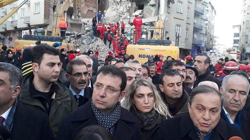 Ekrem İmamoğlu, deprem bölgesi Elazığ'da!