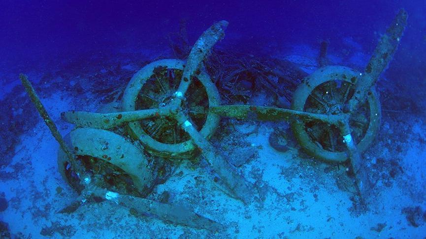 Dünya Savaşı'nın sessiz tanığı, Akdeniz'de 75 metre derinlikte