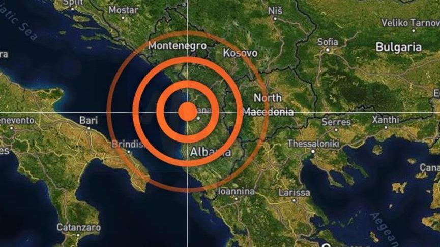 Arnavutluk'ta 5.5 büyüklüğünde deprem